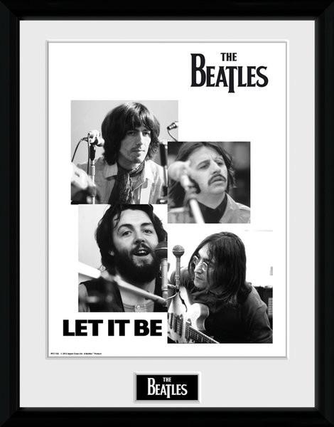 Zarámovaný plakát The Beatles - Let It Be