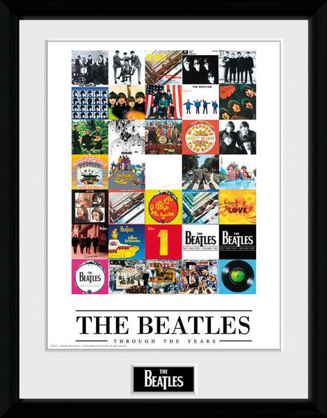 Zarámovaný plakát The Beatles - Through The Years