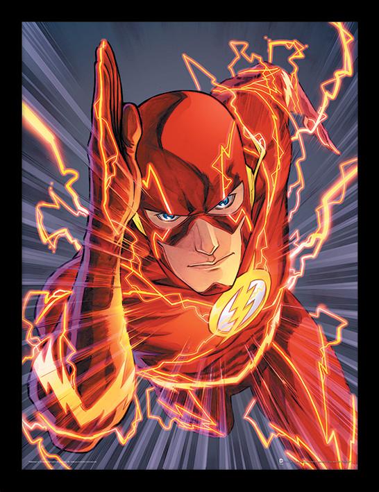 Zarámovaný plakát The Flash - Zoom
