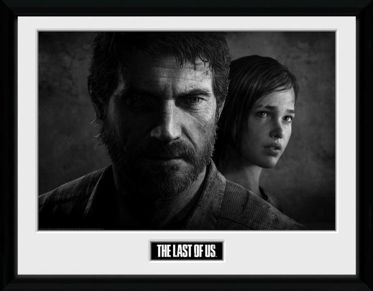 Zarámovaný plakát The Last Of Us - Black and White