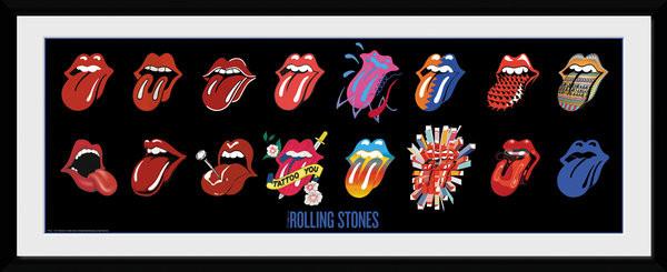 Zarámovaný plakát The Rolling Stones - Tongues (Bravado)