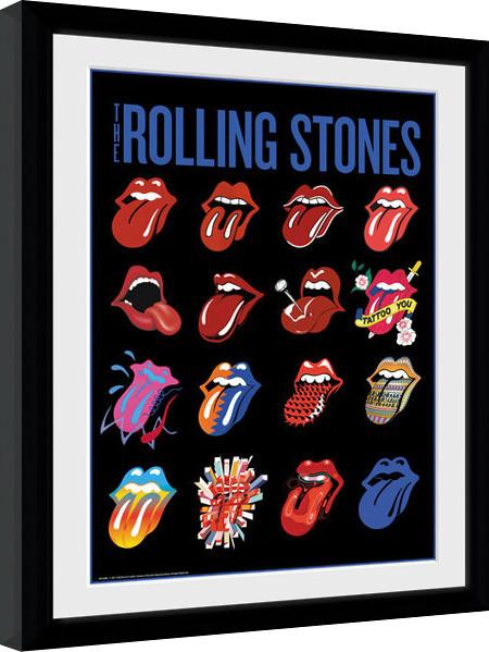 Zarámovaný plakát The Rolling Stones - Tongues