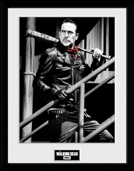 Zarámovaný plakát The Walking Dead - Negan Stairs