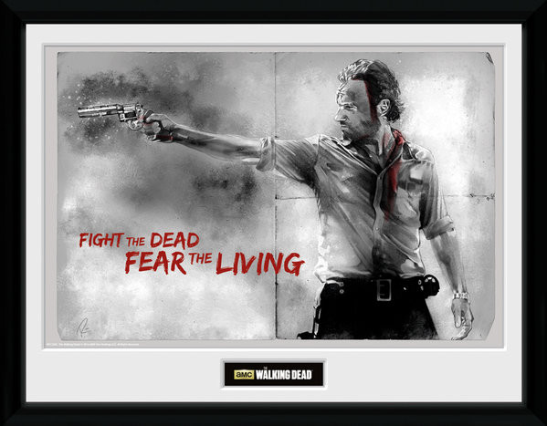 Zarámovaný plakát The Walking Dead - Rick