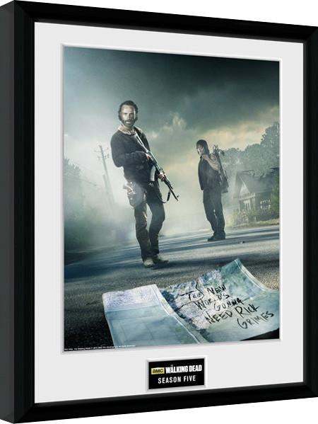 Oprawiony plakat The Walking Dead - Season 5