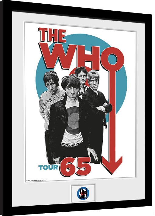 Oprawiony plakat The Who - Tour 65
