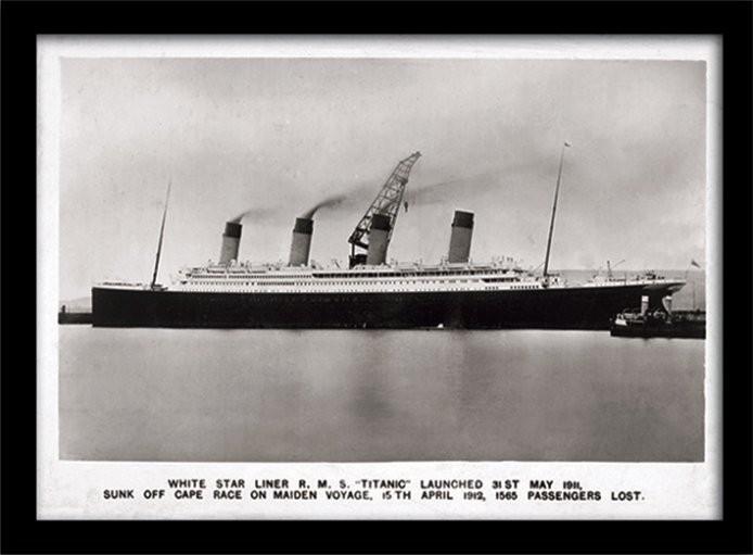 Zarámovaný plakát Titanic (1)