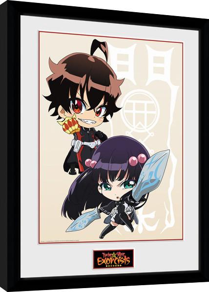 Zarámovaný plakát Twin Star Exorcists - Chibi