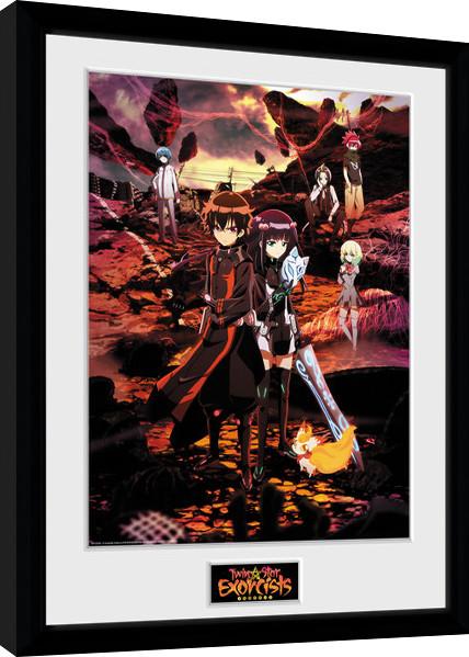 Zarámovaný plakát Twin Star Exorcists - Key Art