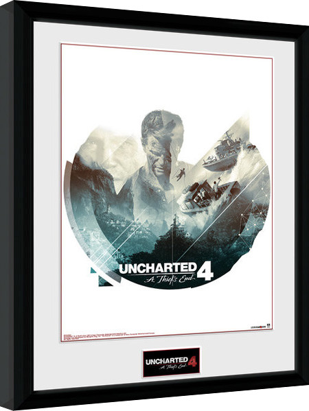 Oprawiony plakat Uncharted 4 - Boats