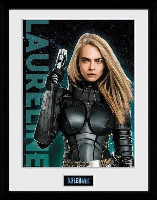 Zarámovaný plakát Valerian a město tisíce planet - Laureline