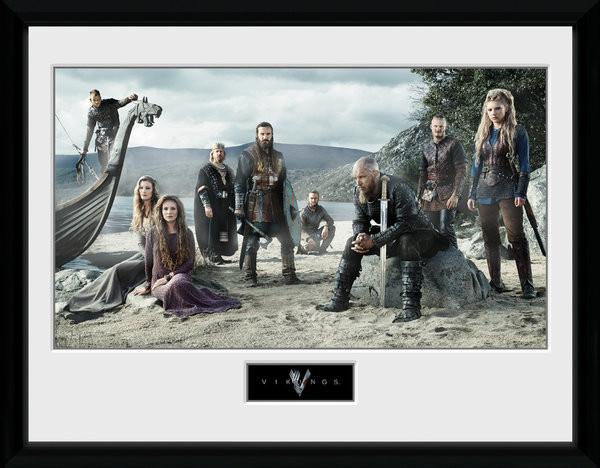 Zarámovaný plakát Vikings - Beach