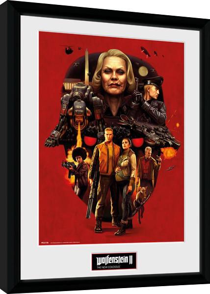 Zarámovaný plakát Wolfenstein - Face of Death