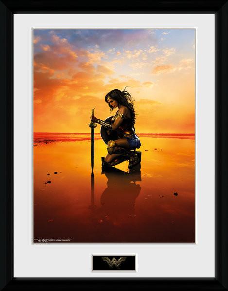 Zarámovaný plakát Wonder Woman - Kneel