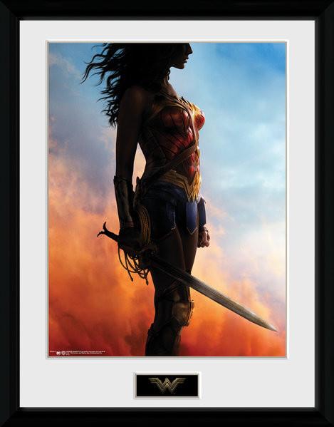 Oprawiony plakat Wonder Woman - Stand