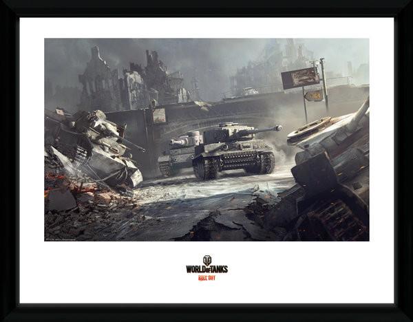 Zarámovaný plakát World of Tanks - German Tanks