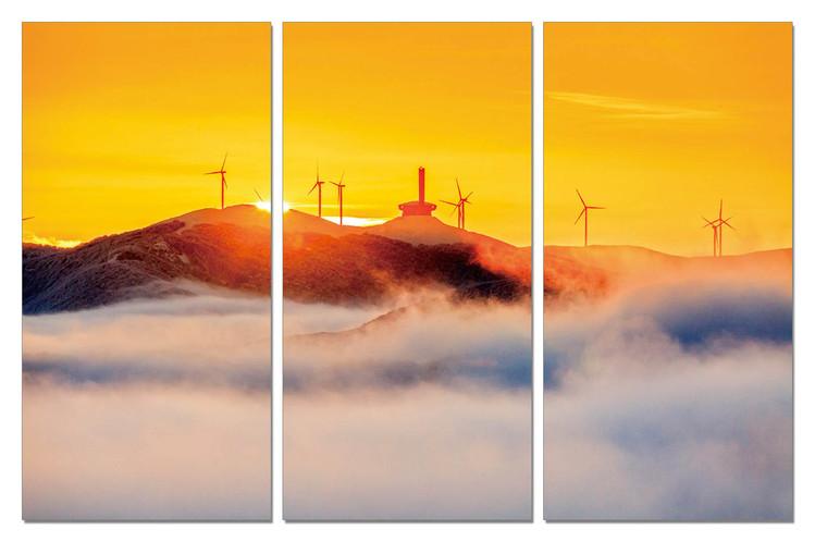Obraz Zlatý západ slunce na pobřeží
