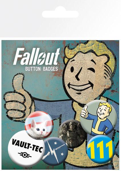 Zestaw przypinek Fallout 4 - Mix 11
