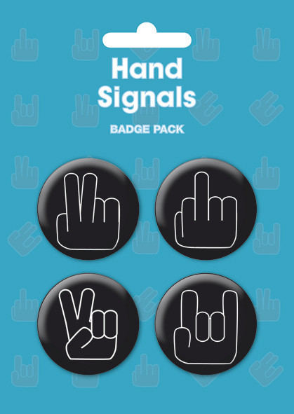 Odznaka HAND SIGNALS