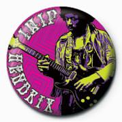 Odznaka Jimi Hendrix plakietka (z gitara)