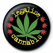 Odznaka LEGALISE CANNABIS