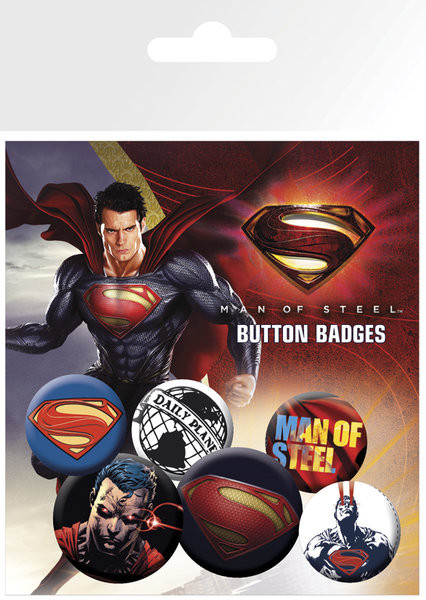 Zestaw przypinek SUPERMAN MAN OF STEEL
