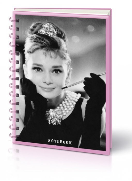 AUDREY HEPBURN PHOTO - notebook A5 Olovka
