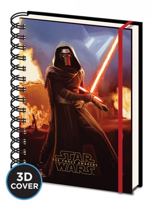 Star Wars, Episodio VII : Il risveglio della Forza - Kylo Ren 3D Lenticular Cover A5 Notebook Olovka