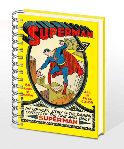 SUPERMAN NO.1 – notebook A4  Olovka