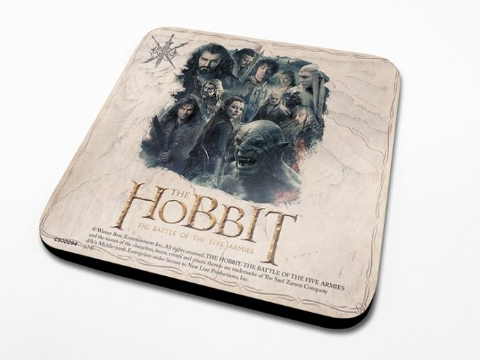 De Hobbit 3: De Slag van Vijf Legers - Montage Onderzetters