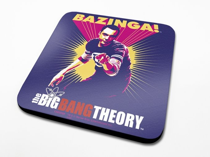 The Big Bang Theory - Bazinga Purple Onderzetters
