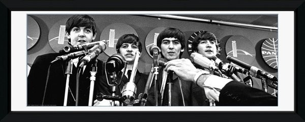 Beatles - interwiew oprawiony plakat