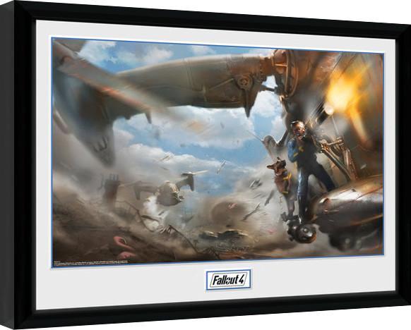 Fallout 4 - Virtibird Door Gunner oprawiony plakat