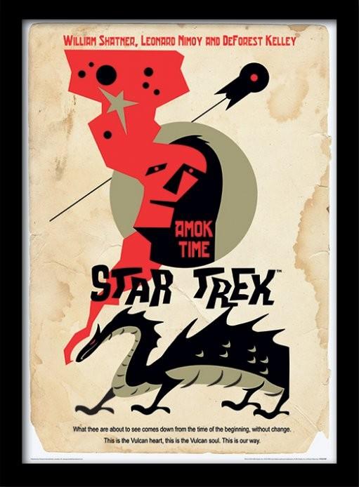 Star Trek - Amok Time oprawiony plakat