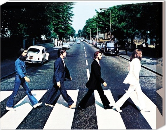 Beatles - Abbey road På lærred