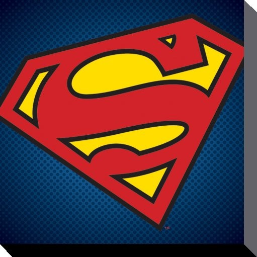 DC Comics - Superman Symbol På lærred