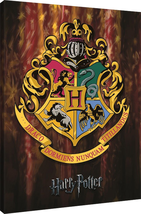 Harry Potter - Hogwarts Crest På lærred