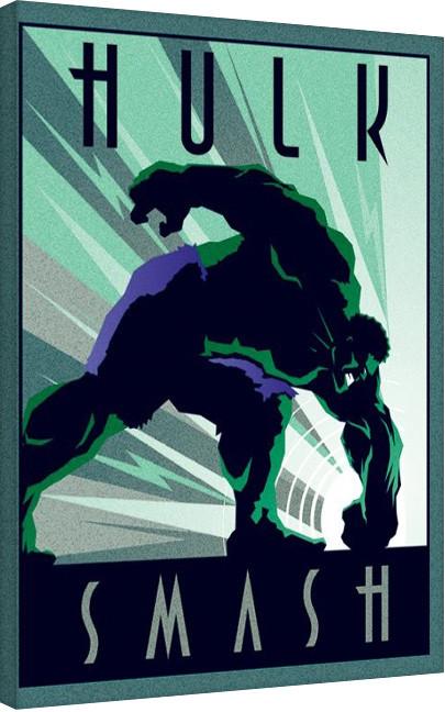 Marvel Deco - Hulk På lærred