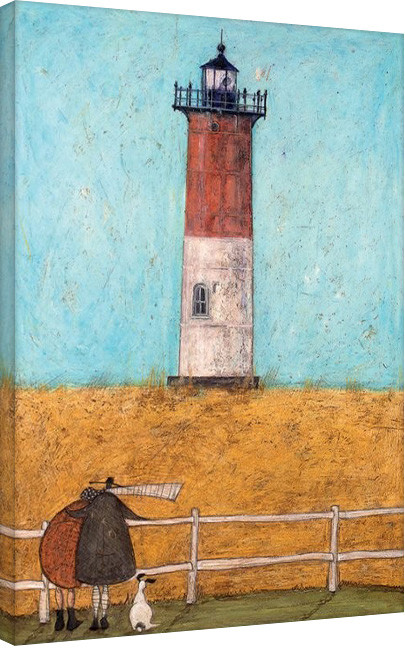 Sam Toft - Feeling the Love at Nauset Light På lærred