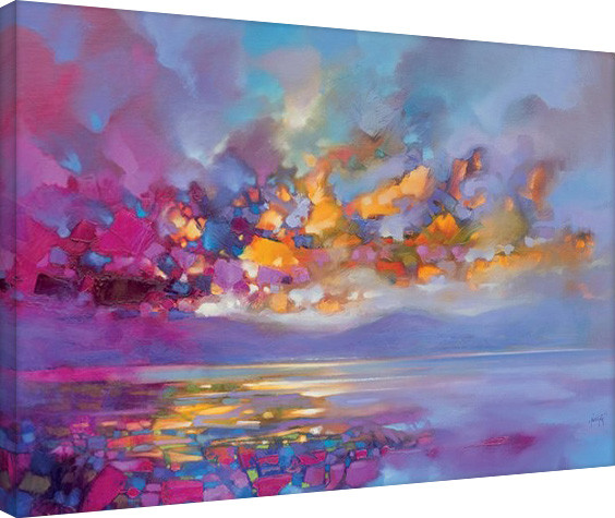 Scott Naismith - Magenta Refraction På lærred