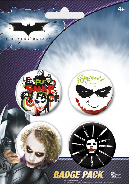 Paket značaka BATMAN - The Joker