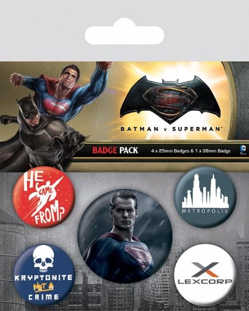 Paket značaka  Batman v Superman: Dawn of Justice - Superman