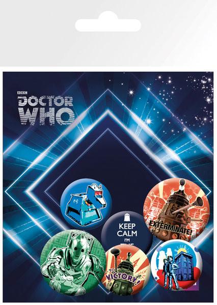 Paket značaka  DOCTOR WHO - retro