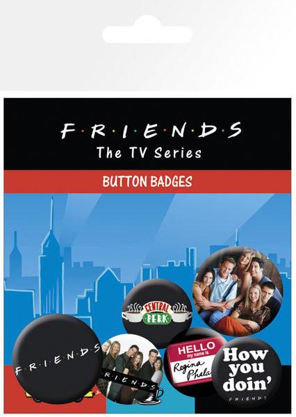 Paket značaka FRIENDS – characters