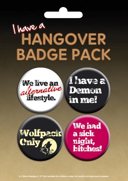 Paket značaka HANGOVER - I have a