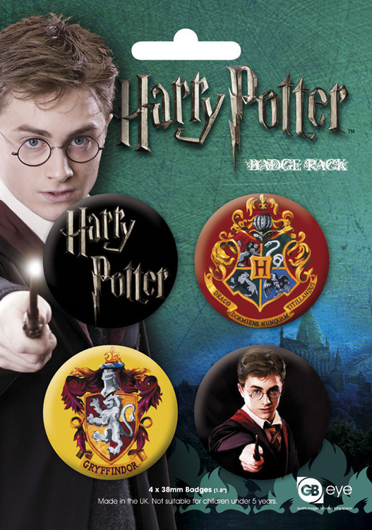 Paket značaka HARRY POTTER GB