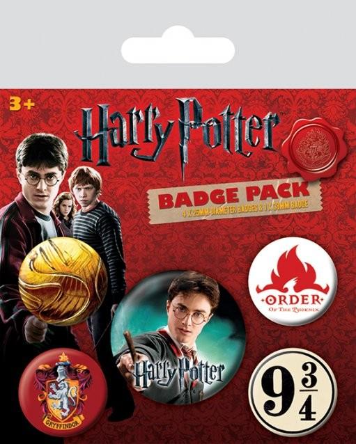 Paket značaka Harry Potter - Gryffindor