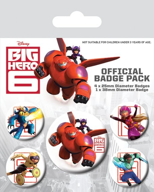 Paket značaka Les Nouveaux Héros - Characters