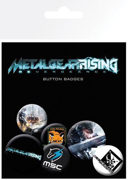 Paket značaka METAL GEAR RISING
