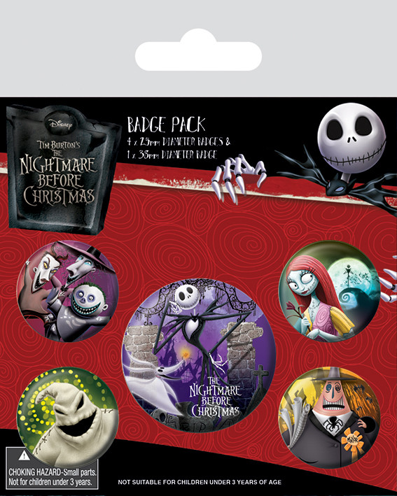 Paket značaka Nightmare Before Christmas - Characters